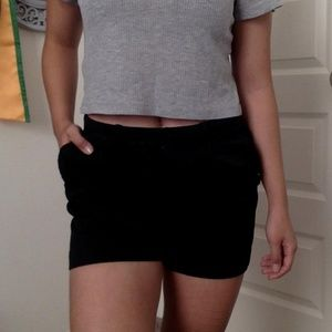H&M Shorts - Black trouser shorts